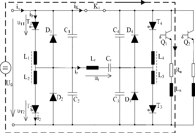 H Bridge By-pass Circuit. Indicated Values Inductance L R