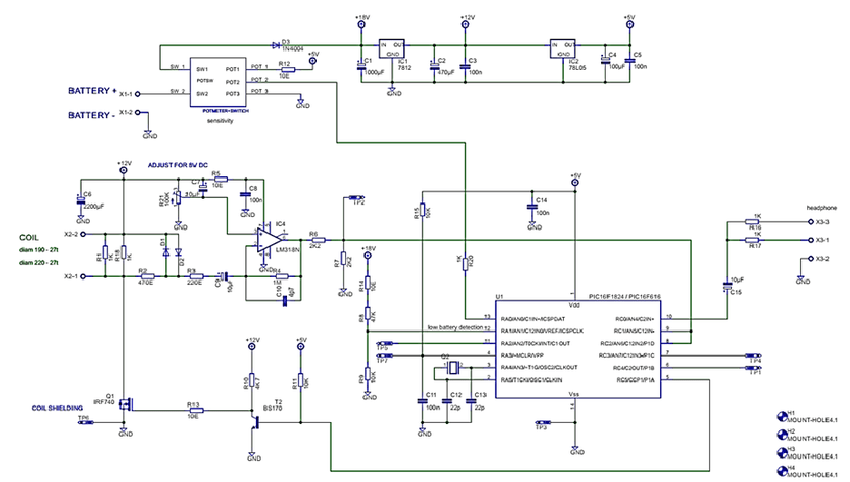 Pulse Induction Metal Detection Schematic Circuit