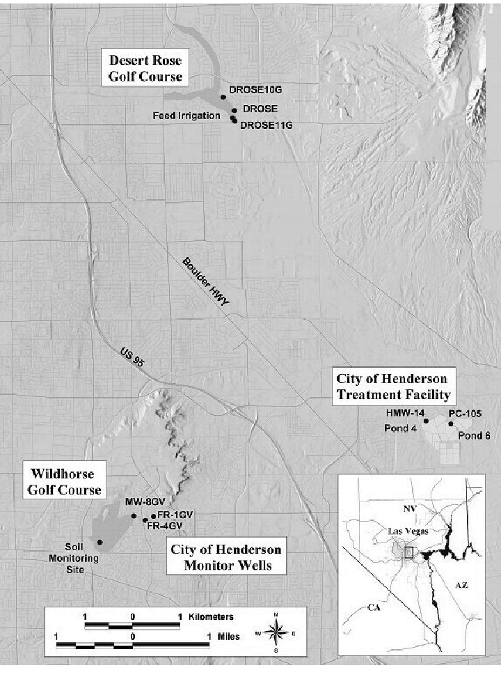 Map Of Las Vegas Golf Courses : vegas, courses, Showing, Location, Sampled, Areas, Within, Vegas..., Download, Scientific, Diagram