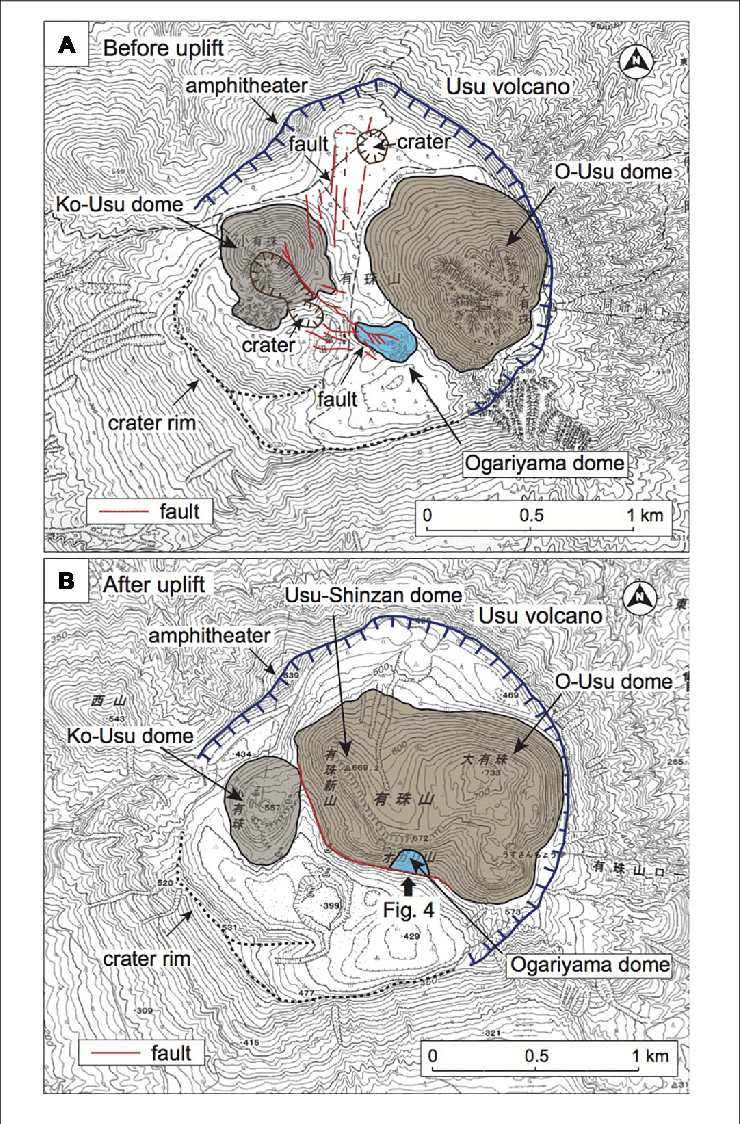 Usu Png : Topographic, Summit, Volcano, Before, The..., Download, Scientific, Diagram
