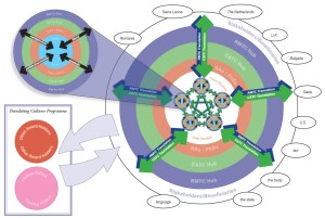 Hub and Case study interaction pinwheel diagram
