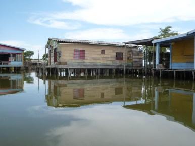 Stilt houses in the Ciénaga Grande de Santa Marta