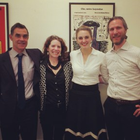 From left to right: Professor Anthony Pereira (King's College London), Leigh Payne (University of Oxford), Verena Brähler and Par Engstrom (University College London)