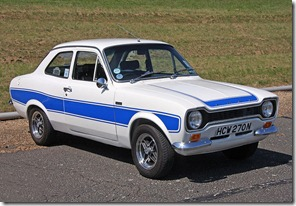 Ford escort RS2000 with a blue stripe