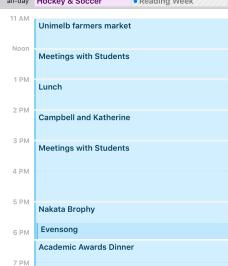 Calendar screen shot