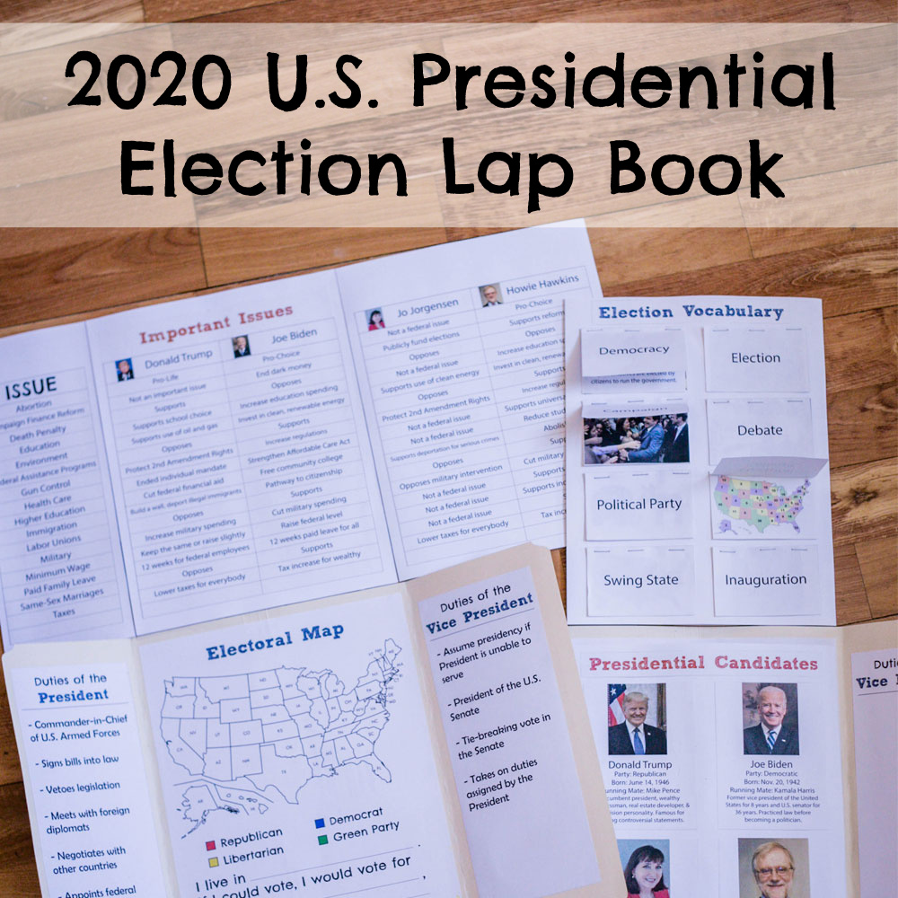 hight resolution of 2020 U.S. Presidential Election Lap Book - ResearchParent.com
