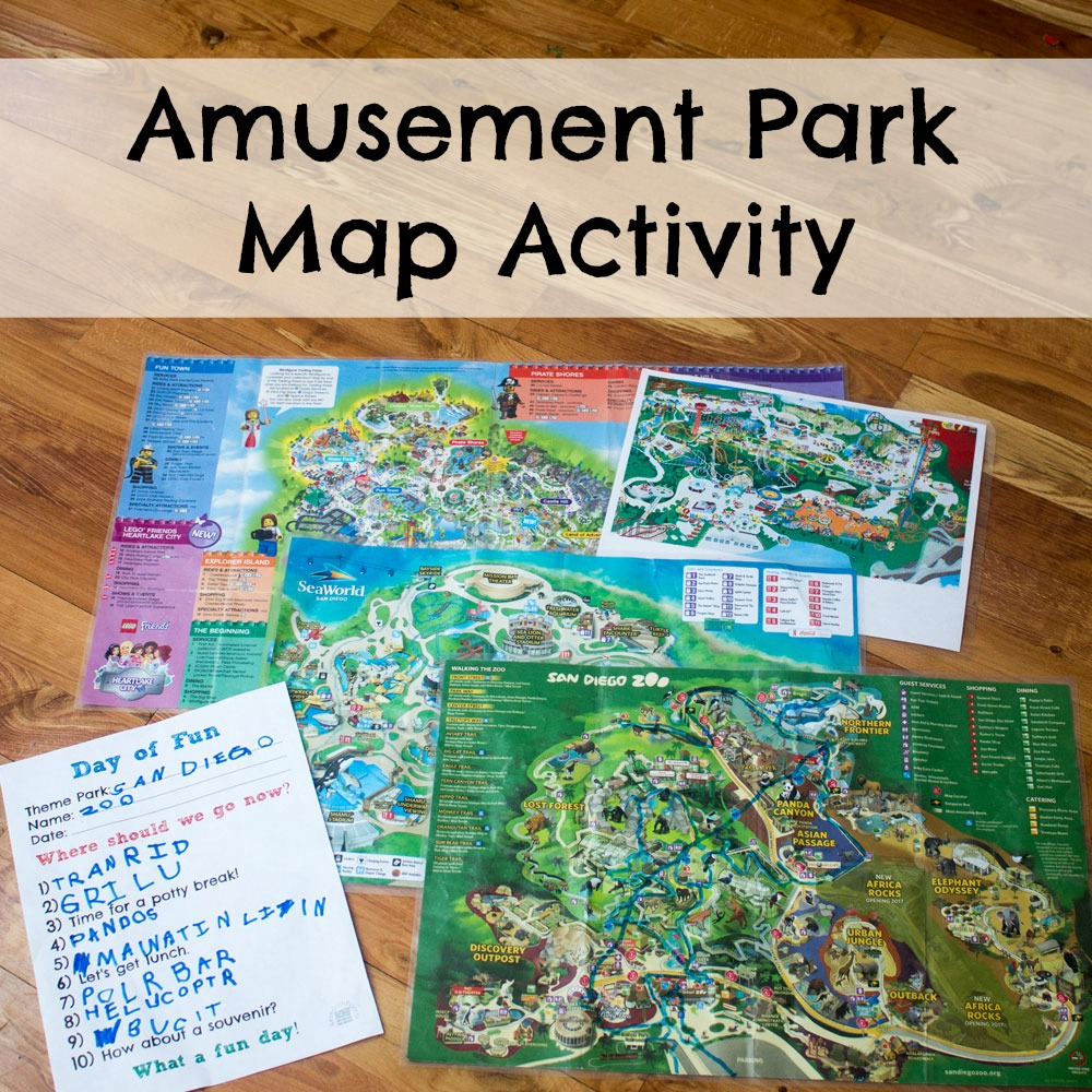 medium resolution of Amusement Park Map Activity - ResearchParent.com