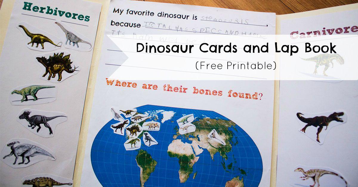 Dinosaur Cards and Lap Book  ResearchParentcom