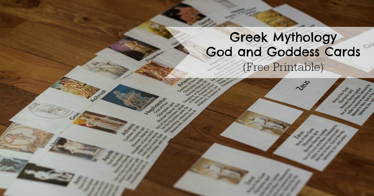 Greek Mythology God and Goddess Cards  ResearchParentcom
