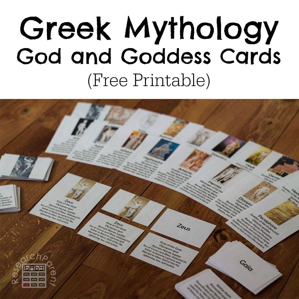 hight resolution of Greek Mythology God and Goddess Cards - ResearchParent.com