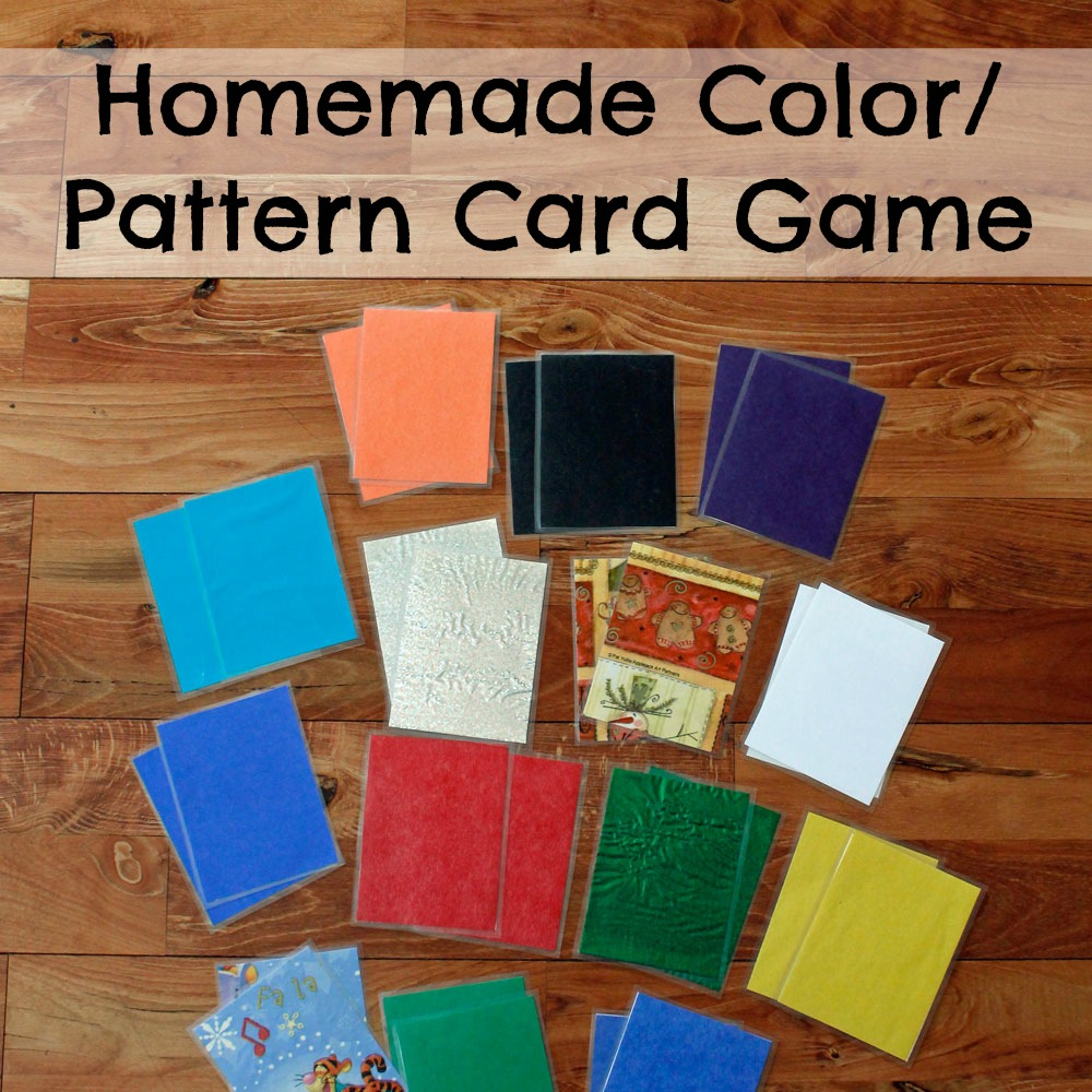 Homemade ColorPattern Card Game