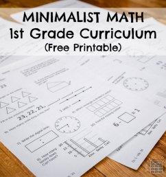 First Grade Minimalist Math Curriculum - ResearchParent.com [ 1000 x 1000 Pixel ]