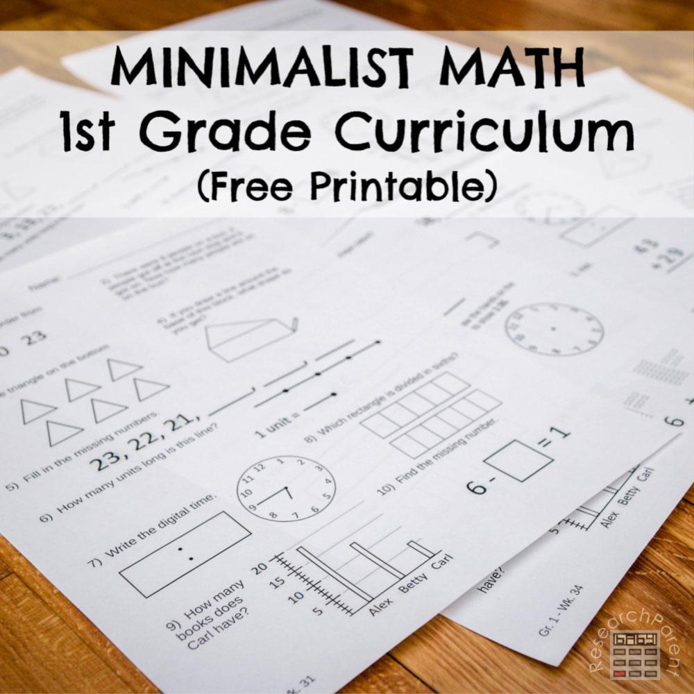 hight resolution of First Grade Minimalist Math Curriculum - ResearchParent.com