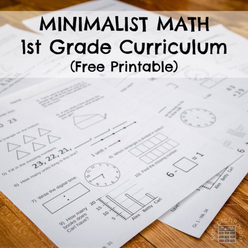 small resolution of First Grade Minimalist Math Curriculum - ResearchParent.com