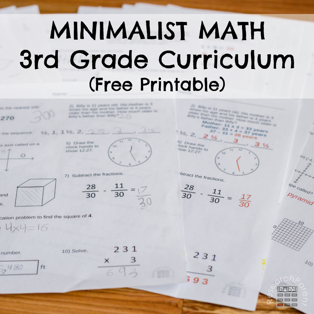 hight resolution of Third Grade Minimalist Math Curriculum - ResearchParent.com
