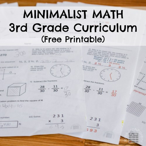 small resolution of Third Grade Minimalist Math Curriculum - ResearchParent.com