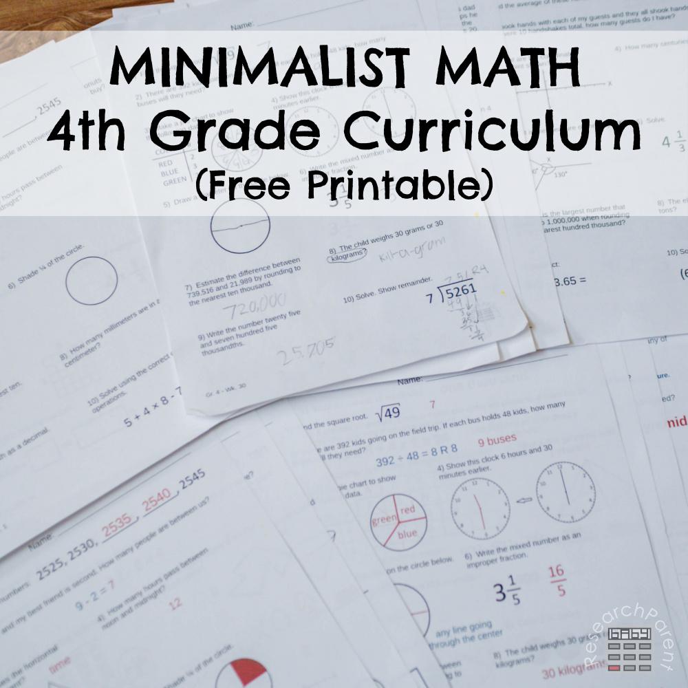 hight resolution of Fourth Grade Minimalist Math Curriculum - ResearchParent.com