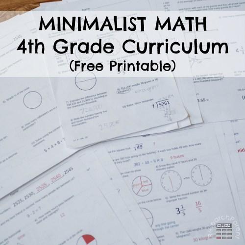 small resolution of Fourth Grade Minimalist Math Curriculum - ResearchParent.com