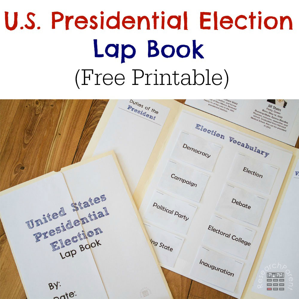 hight resolution of United States Presidential Election Lap Book - ResearchParent.com