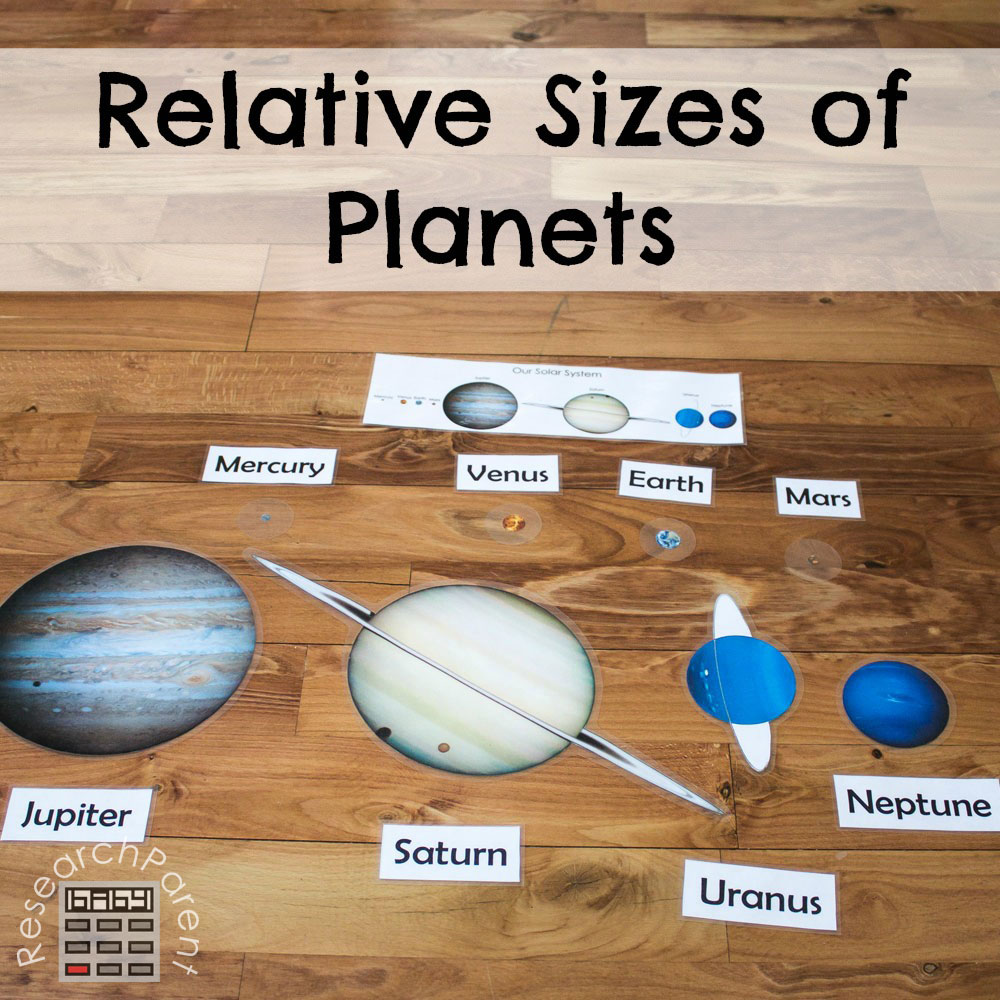 hight resolution of Relative Sizes of Planets - ResearchParent.com