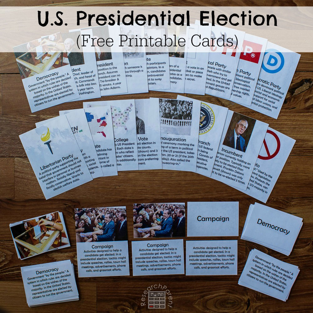 hight resolution of U.S. Presidential Election Cards - ResearchParent.com