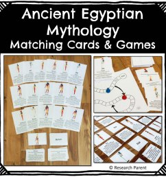 Ancient Egyptian Mythology Matching Cards and Games Product -  ResearchParent.com [ 1000 x 1000 Pixel ]