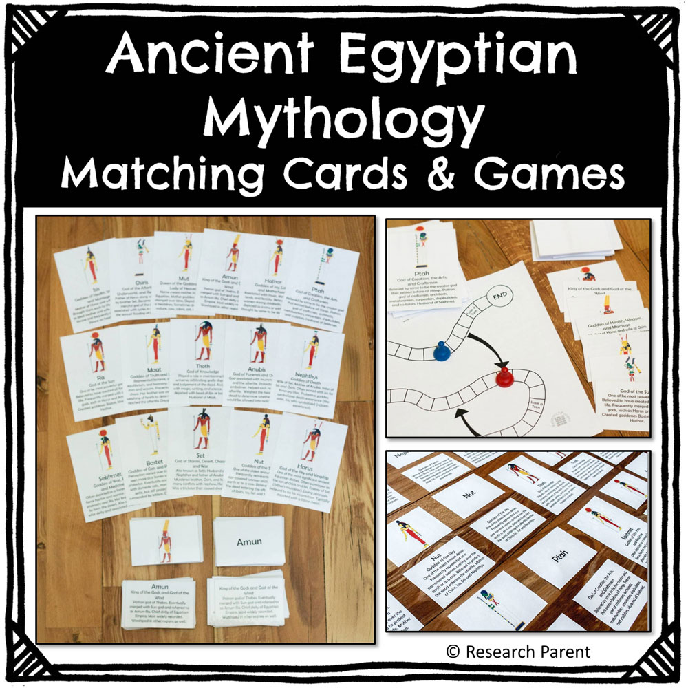 hight resolution of Ancient Egyptian Mythology Matching Cards and Games Product -  ResearchParent.com