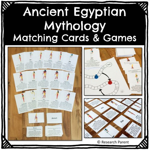 small resolution of Ancient Egyptian Mythology Matching Cards and Games Product -  ResearchParent.com