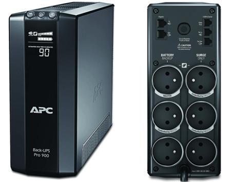 Onduleur APC Power-Saving Back-UPS PRO - Onduleur 900VA, BR900G-FR - AVR, 6 Prises FR, USB, Logiciel d'arrêt