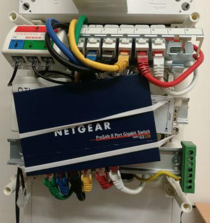 Installation switch dans le boitier de communication Siemens