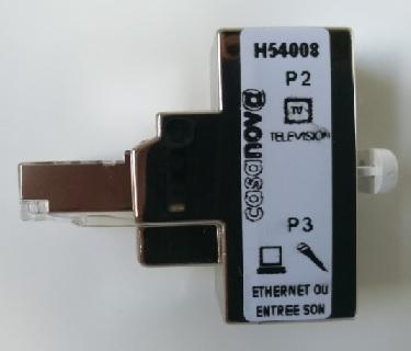 Doubleur RJ45 Casanova Television + Ethernet