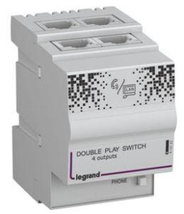 413122 Centrale Informatique ou Téléphone Double Play 10-100 MBits Legrand