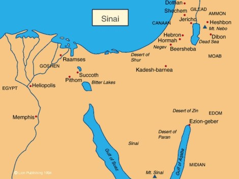 sinai-desert-map