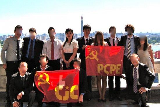 Groupe de jeunes communistes des CJC avec leur deux guides : Perla et Kim (2012)