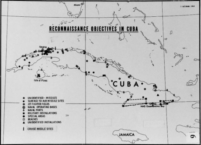 Objectifs de reconnaissance de l'US Air Force à Cuba, 1962. (document U.S. Air Force)