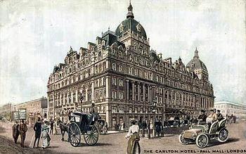 L'Hôtel Carlton de Londres, en 1905