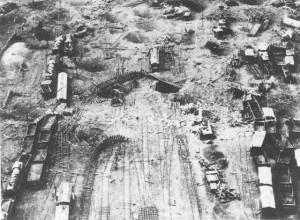 Fribourg après des bombardements Alliés, Mai 1940