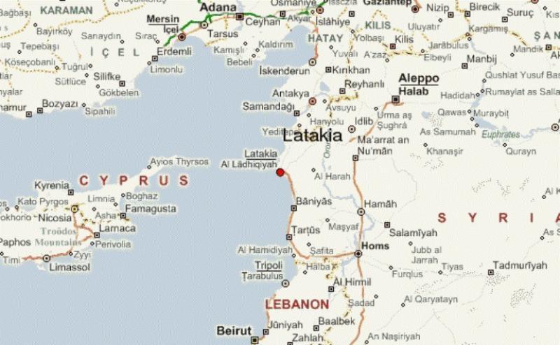 Latakia-map