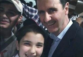 سيلفي مع الرئيس الاسد