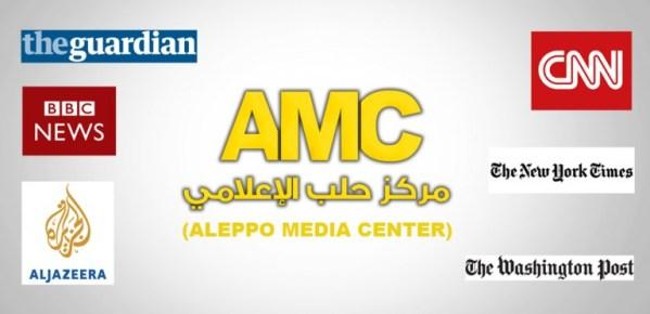 CARREFOUR DE LA PROPAGANDE : Le Aleppo Media Centre fournit des images appelant à un changement de régime en Syrie aux médias des États-Unis, du Royaume-Uni, des États membres de l'OTAN, à Al Jazeera du Qatar et à bien d'autres, en appui à la campagne de relations publiques en faveur d'organisations terroristes reconnues actives en Syrie.