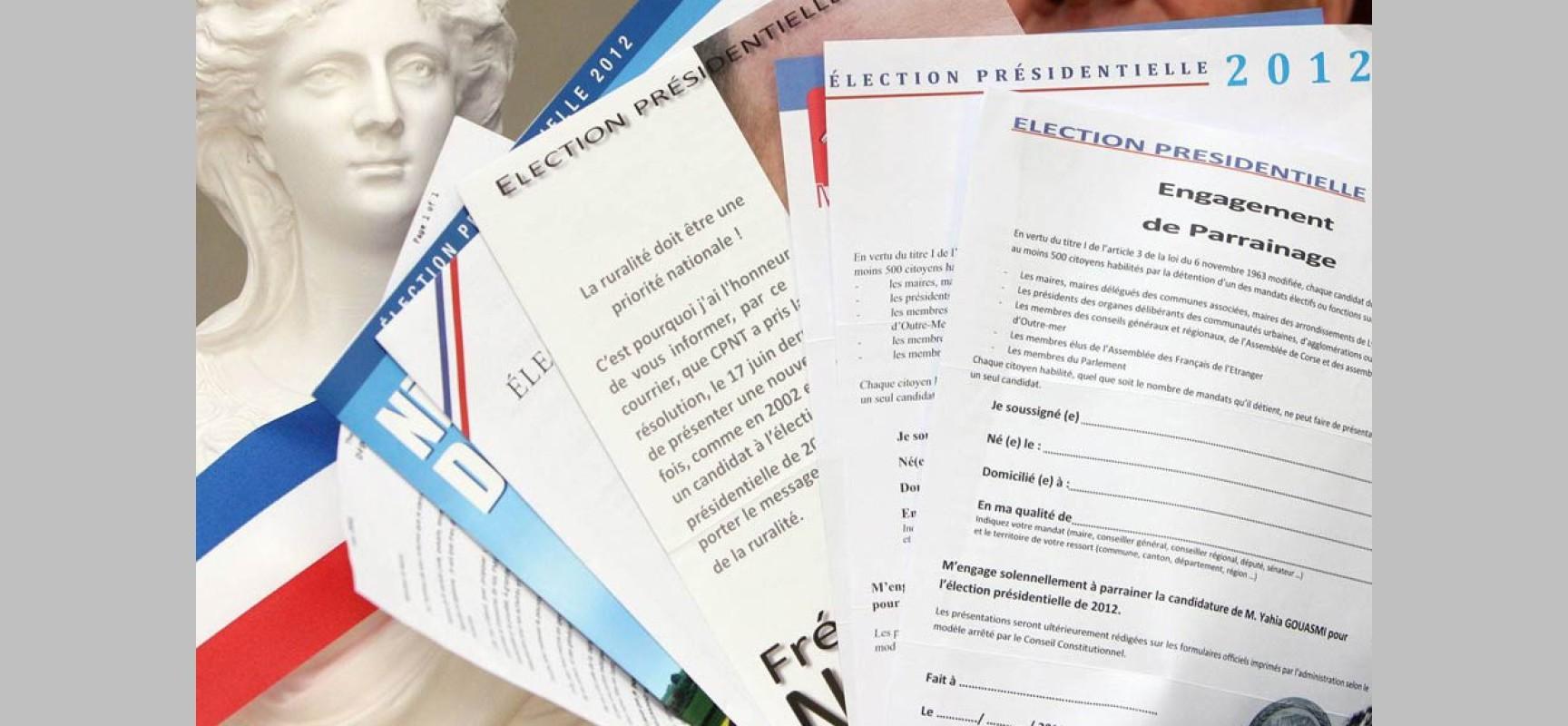 Communiqué de presse: Pour une publication intégrale des «parrainages» pour l'élection présidentielle