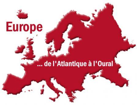 La vision du Général De Gaulle (ni les territoires russes hors d'Europe -20% de la population- ni les territoires français -4% de la population- ne sont représentés)