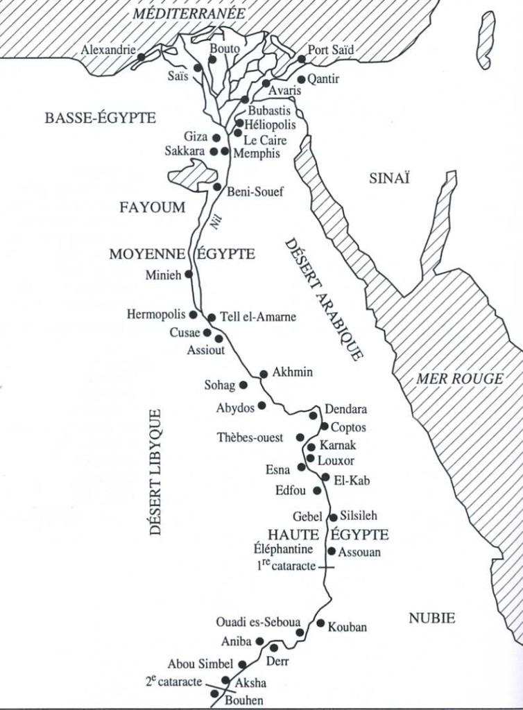 Le Nil et son delta.