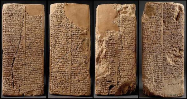 Le prisme de Weld-Blundell, la version la plus complète de la liste royale sumérienne. (Ashmolean Museum)