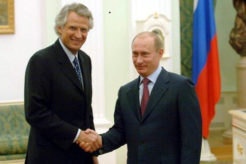 Dominique de Villepin et Poutine récemment.