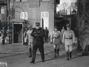 Le maréchal Joffre à Chantilly, 1915