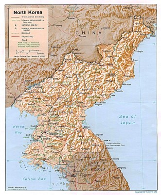 detailed-political-and-administrative-map-of-north-korea-with-relief-roads-and-cities-1996