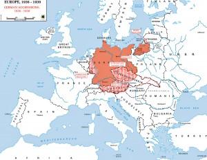 Carte des Annexions Européennes et Allemandes 1936-1939. Source: http://www.emersonkent.com