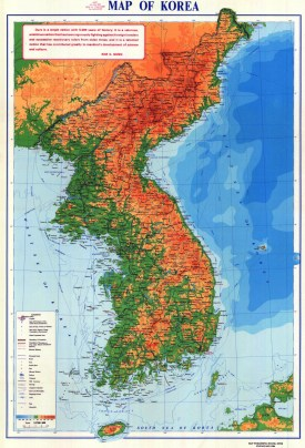 large-detailed-physical-map-of-korean-peninsula-with-roads-and-cities