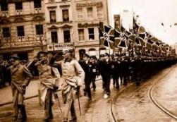 Troupes allemandes entrant en Rhénanie, 1936